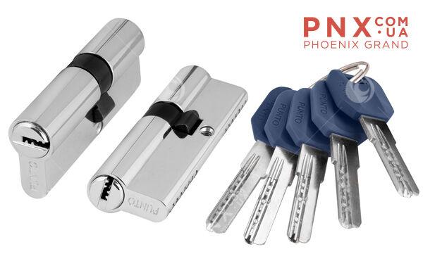 Цилиндровый механизм Z400/70 mm (30+10+30) CP хром 5 кл. PUNTO (с индивидуальным ключом)
