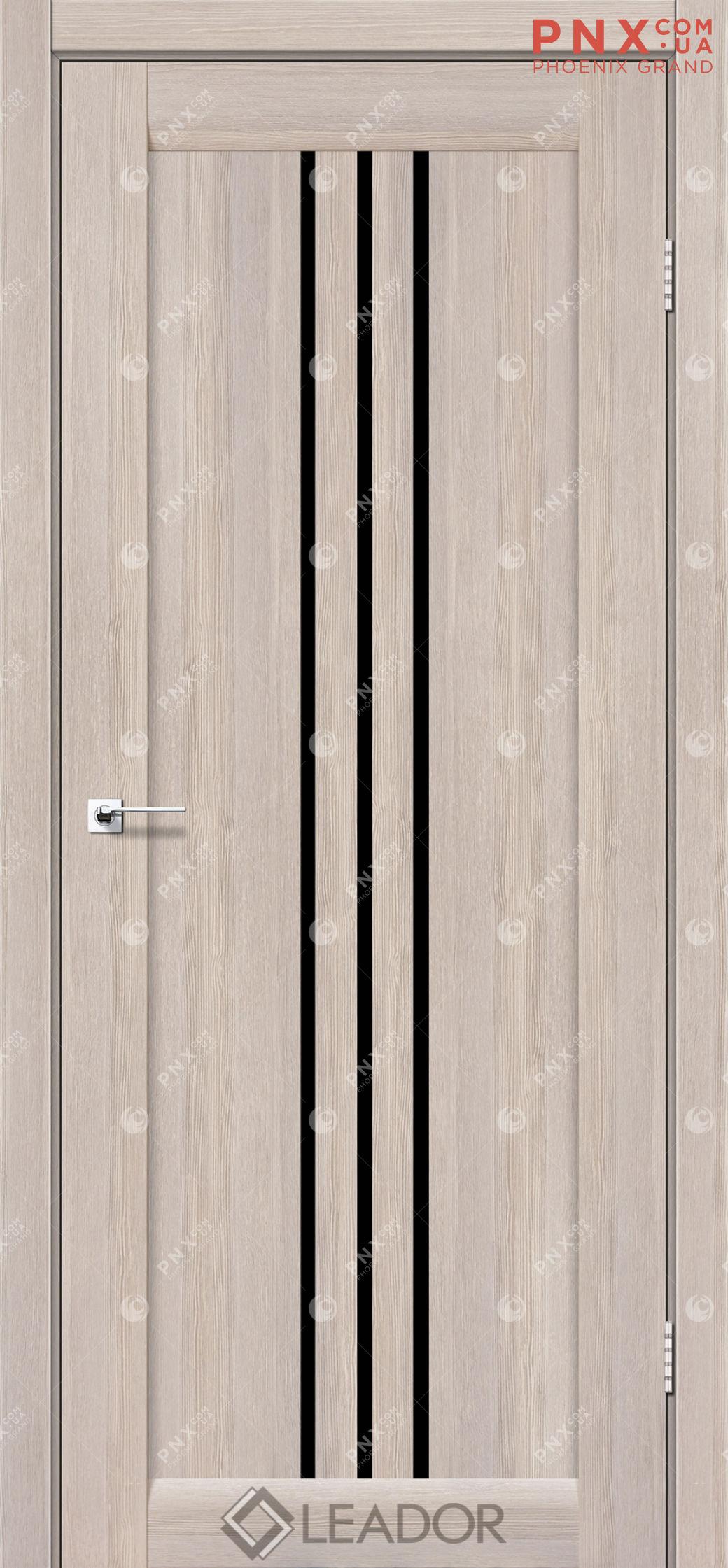 Межкомнатная дверь LEADOR Verona, Монблан, Черное стекло