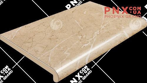 Подоконник Plastolit, цвет бежевый мармур глянец 100 мм
