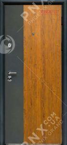 Входная дверь Форт Нокс, Статус, металл/металл S3 золотой дуб+графит