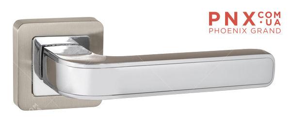 Ручка раздельная NOVA QR SN/CP-3 матовый никель/хром PUNTO (на раздельном основании)