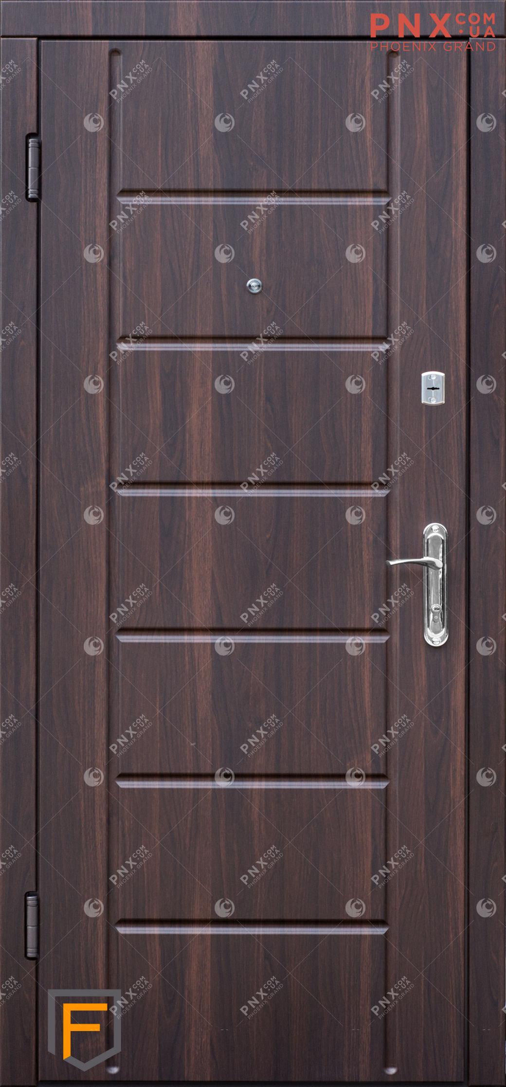 Входная дверь Форт Нокс, Сити,мдф/мдф Орех мореный DG-36/Орех мореный DG-36