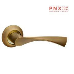 Ручка раздельная CLASSIC AR AB/SG-6 бронза/матовое золото, квадрат 8x140 мм FUARO