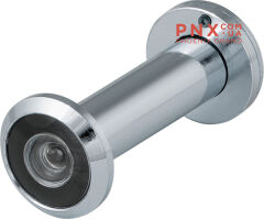 DVZ2, глазок, 16/200/60x100 (оптика пластик, угол обзора 200) CP Хром FUARO (с пластиковой оптикой)