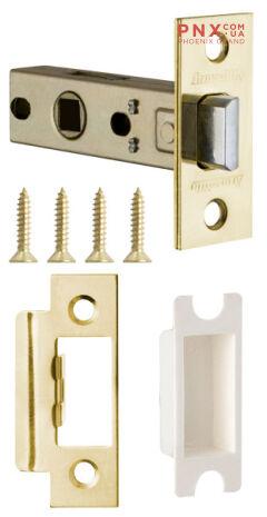 Защёлка врезная (пластик) LH 121-45-25 GP Золото Box /прям/ ARMADILLO (для легких дверей)