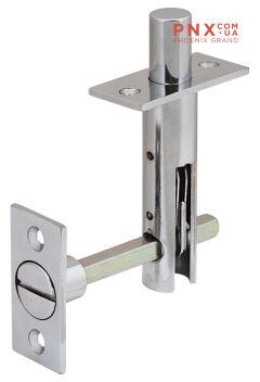 Задвижка торцевая TDB 860-24 CP (хром) 60мм 8шт./упак. FUARO (для металлических дверей)