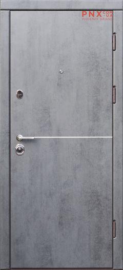Входная дверь Форт Нокс,Троя, мдф/мдф Бетон темный/бетон бежевый+молдинг DA-8