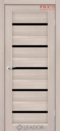 Межкомнатная дверь LEADOR Siena, Монблан, Черное стекло