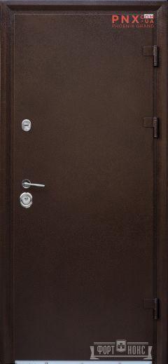 Входная дверь Форт Нокс, Стандарт Крафт, метал/мдф антик медь/ дуб шале корица DA-8