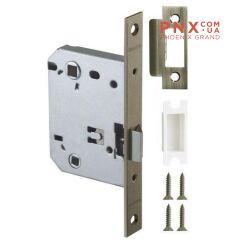 Защёлка врезная (пластик) LH 721-50 GR Графит 70 мм Box /прям/ ARMADILLO (для легких дверей)