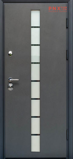 Входная дверь Форт Нокс, Статус, металл/металл SG графит