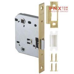 Защёлка врезная (пластик) LH 721-50 GP Золото 70 мм Box /прям/ ARMADILLO (для легких дверей)