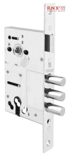 Корпус врезного замка c защёлкой V10/C-60.85.3R14 FUARO (для металлических дверей)