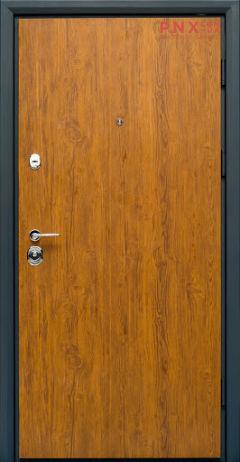 Входная дверь Форт Нокс, Статус, металл/металл S2 золотой дуб