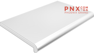Подоконник Plastolit, цвет белый матовый 100 мм