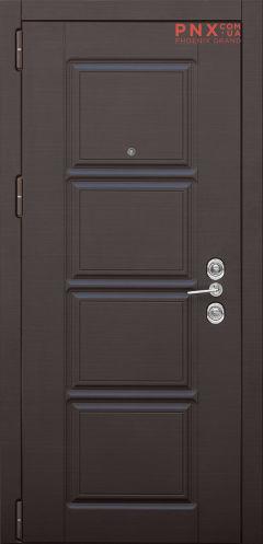 Входная дверь Форт Нокс,Троя, мдф/мдф венге горизонт темный DO-31