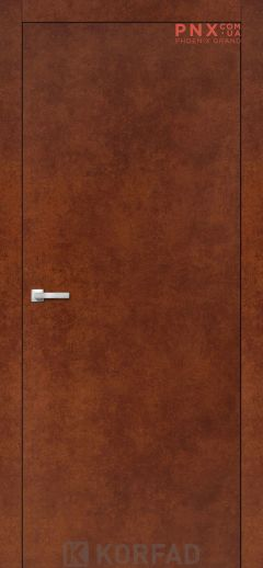 Міжкімнатні двері  Korfad LP-01 , сталь кортен, глухі