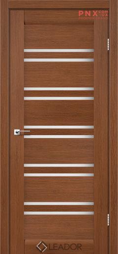 Межкомнатная дверь LEADOR Sicilia, Браун, Белое стекло сатин