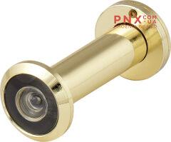 DVZ2, глазок, 16/200/60x100 (оптика пластик, угол обзора 200) GP Золото FUARO (с пластиковой оптикой)