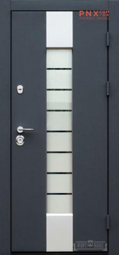 Входная дверь Форт Нокс, Котедж NEW, металл/металл SP1 графит серебро/графит серебро