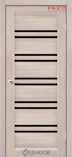 Межкомнатная дверь LEADOR Sicilia, Монблан, Черное стекло