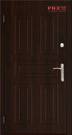 Входная дверь Саган Классик Модель 2 мдф/мдф , орех темный/орех темный, глухое