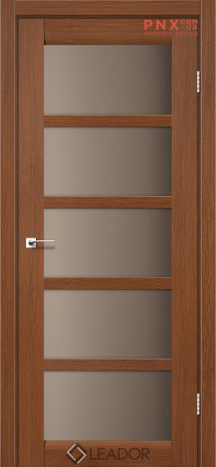 Межкомнатная дверь LEADOR Veneto, Браун, Стекло сатин бронза