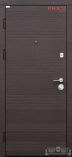 Входная дверь Форт Нокс, Акцент New, мдф/мдф венге горизонт серый DM-36