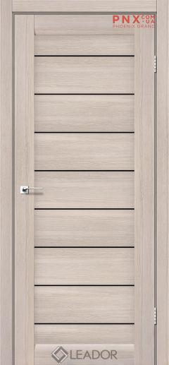 Межкомнатная дверь LEADOR Neapol, Монблан, Черное стекло
