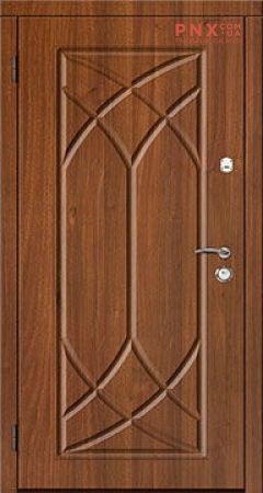 Входная дверь Саган Стандарт Модель 129, мдф/мдф , светлый орех/светлый орех, глухое
