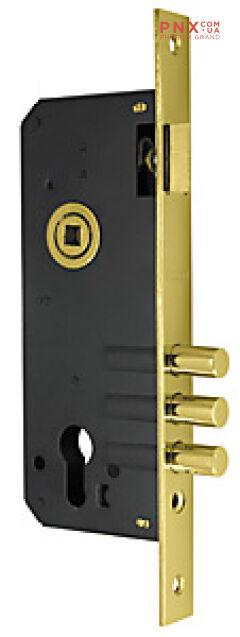 Корпус врезного замка с защёлкой 900 3MR/PB W/B (латунь) FUARO (для легких дверей)