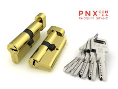 Цилиндровый механизм с вертушкой R602/60 mm (25+10+25) PB латунь 5 кл. FUARO (с индивидуальным ключом)