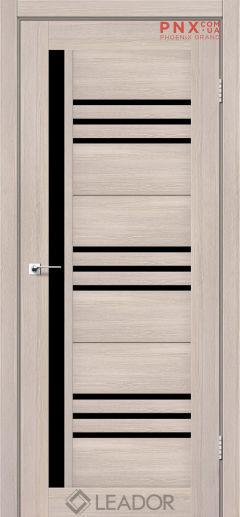 Межкомнатная дверь LEADOR Compania, Монблан, Черное стекло