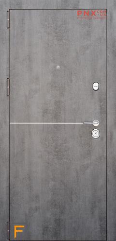 Входная дверь Форт Нокс,Троя New, мдф/мдф бетон темный/бетон бежевый +молдинг DA-8