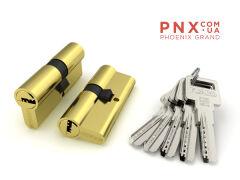 Цилиндровый механизм R600/70 mm (25+10+35) PB латунь 5 кл. FUARO (с индивидуальным ключом)