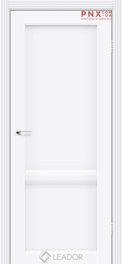 Межкомнатная дверь LEADOR Laura-LR-02, Белый матовый, Глухое