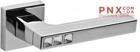 Ручка раздельная CRYSTAL FLASH DM SN/CP-3 матовый никель/хром FUARO
