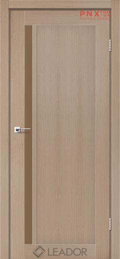Межкомнатная дверь LEADOR Toskana, Дуб Мокко, Стекло сатин бронза