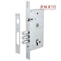 Корпус замка 4252/CP W/B (НИКЕЛЬ) FUARO (для металлических дверей)