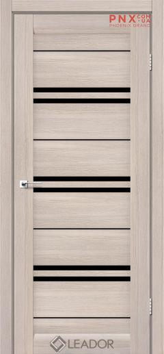 Межкомнатная дверь LEADOR Malta, Монблан, Черное стекло