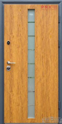 Входная дверь Форт Нокс, Статус, металл/металл SG золотой дуб
