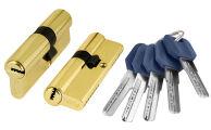 Цилиндровый механизм Z400/60 mm (25+10+25) PB латунь 5 кл. FUARO (с индивидуальным ключом)