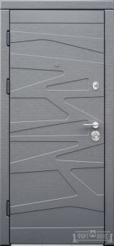 Входная дверь Форт Нокс, Акцент New, мдф/мдф цемент маранго/цемент мендаль DG -43