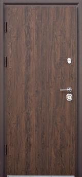 Входная дверь Форт Нокс, Статус, металл/металл S3 дуб темный