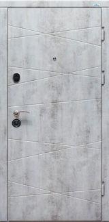 Входная дверь Форт Нокс, Оптима, мдф/мдф Бетон пепельный DL-37/Белый мат DL-37