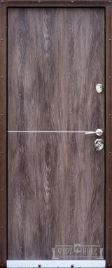 Входная дверь Форт Нокс, Стандарт Крафт, метал/мдф антик медь/ дуб шале корица DA-8 - Изображение 1