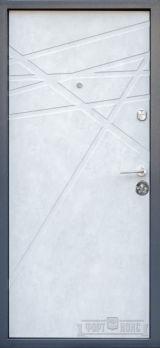 Входная дверь Форт Нокс, Стандарт, мдф/мдф мрамор темный/бетон снежный DG-41 - Изображение 1