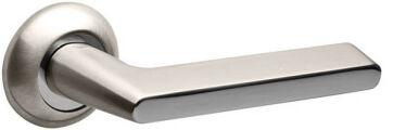 Ручка раздельная FOCUS KM SN/CP-3 матовый никель/хром (8*8*150mm) FUARO