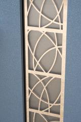 Входная дверь Форт Нокс,  Котедж NEW, металл/металл SP2 Бетон 3 в серебро/белое дерево+серебро