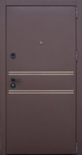 Входная дверь Форт Нокс, Стрит, металл/мдф муар8017+ никель молдинг/астана розвуд горизонт